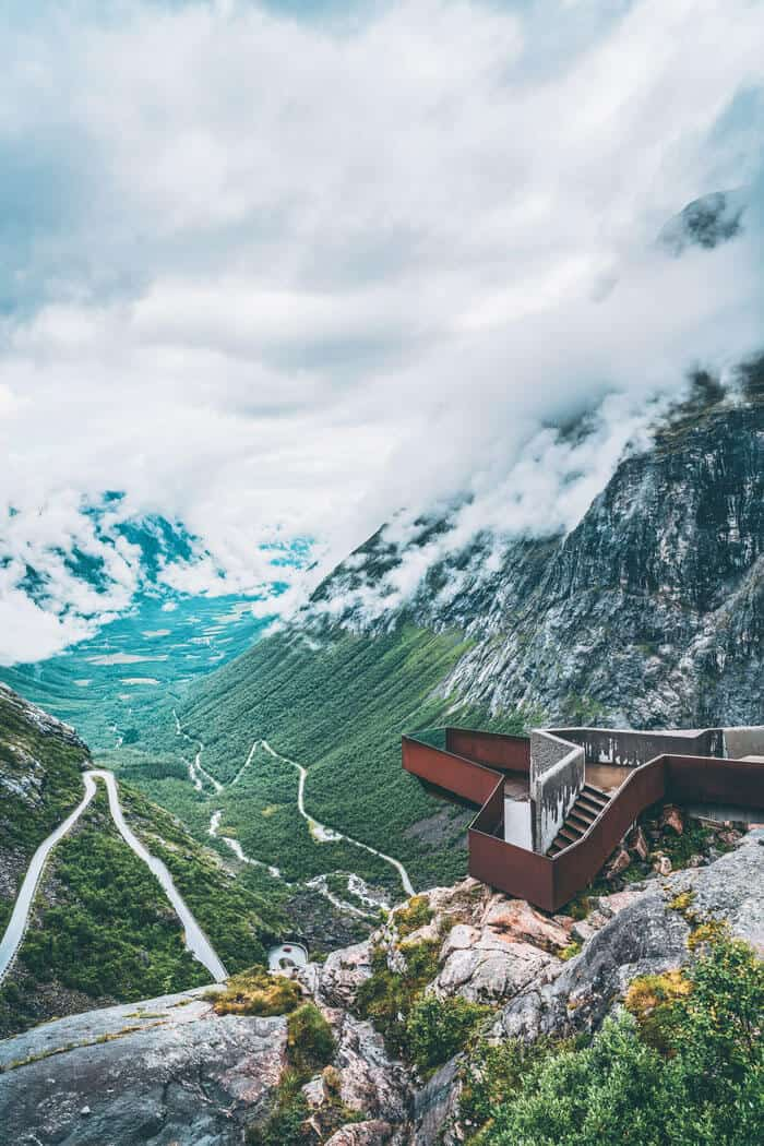 "The ""Troll's Ladder"", Trollstigen Mountain Road. Travel photography and amazing photos of Norway! #norway"