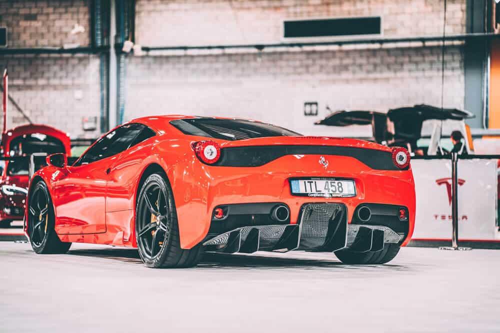 Red Ferrari Exotics Racing