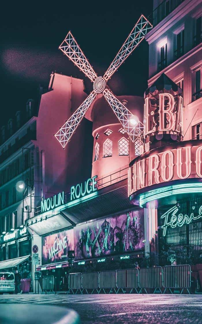 Moulin Rouge in Paris France. 2 day Paris Itinerary! Find the best places to visit in Paris in 2 days.