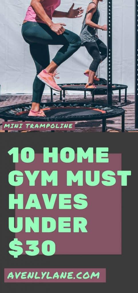 mini trampoline for a home gym