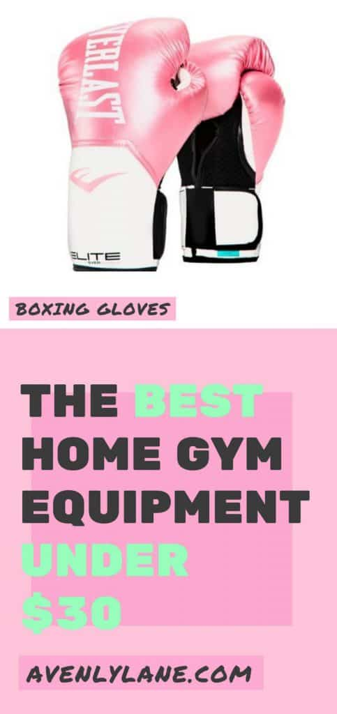 Pink boxing gloves - cheap home gym