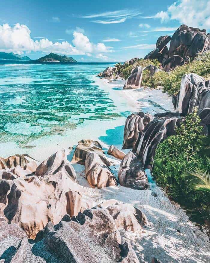 Seychelles Beach, Anse Source d'Argent beach on La Digue Island