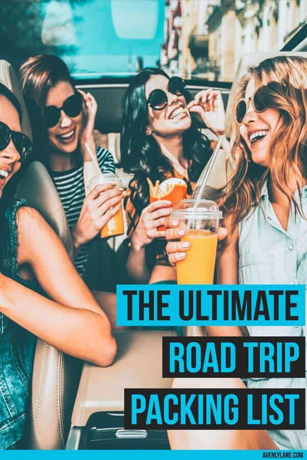 The Ultimate Road Trip Packing List. #roadtrip #packinglist #vacation #avenlylane