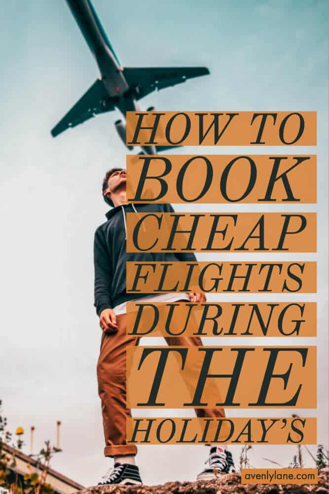 How to save money and book cheap flights to anywhere during the holidays this year! #travel #traveltips