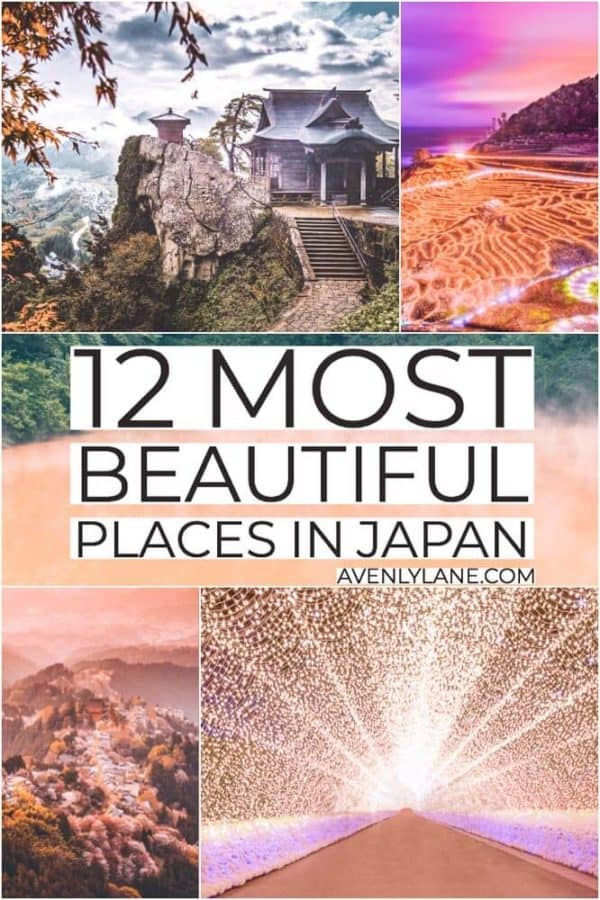 The Most Beautiful Places in Japan. The islands of Japan are some of the most beautiful islands in the world. With the length of the archipelago being covered in a variety of climates, foliage, and mountains, there is something incredible to see in every direction. Check out the Ultimate Japan Bucket List by clicking through to www.avenlylane.com #Japan #bucketlist #asia #travel #travelblog #AVENLYLANE #AVENLYLANETRAVEL