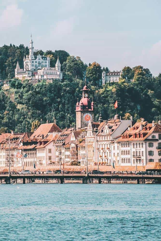 Lucern, Switzerland, one of the The 15 Prettiest Towns in Switzerland. If you are planning a vacation in Switzerland you HAVE to visit these 15 top places in Switzerland. They are incredible! See 14 others on www.avenlylane.com #avenlylanetravel #avenlylane #travelinspiration #travel #beautifulplaces #europe #switzerland