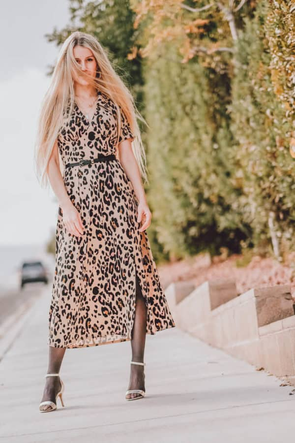 My Favorite Must Have Fall Dress to Wear with Tights. Leopard is a major fall trend this year and I couldn't be happier about it! I love finding new ways to style these fall dresses and wearing them with tights and heels or boots makes for the perfect fall or winter outfit! Let me know what you think on www.avenlylane.com | #AVENLYLANE #dress #dresses #falloutfits #falldresses #fallstyle #styleinspiration #style #outfits #fashion #fallfashion