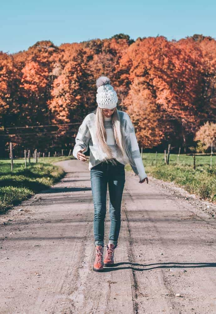 Fall Fashion and Fall Leaves in Vermont