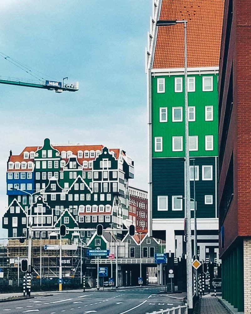Inntel Hotel Zaandam Netherlands! One of the coolest buildings I have ever seen!