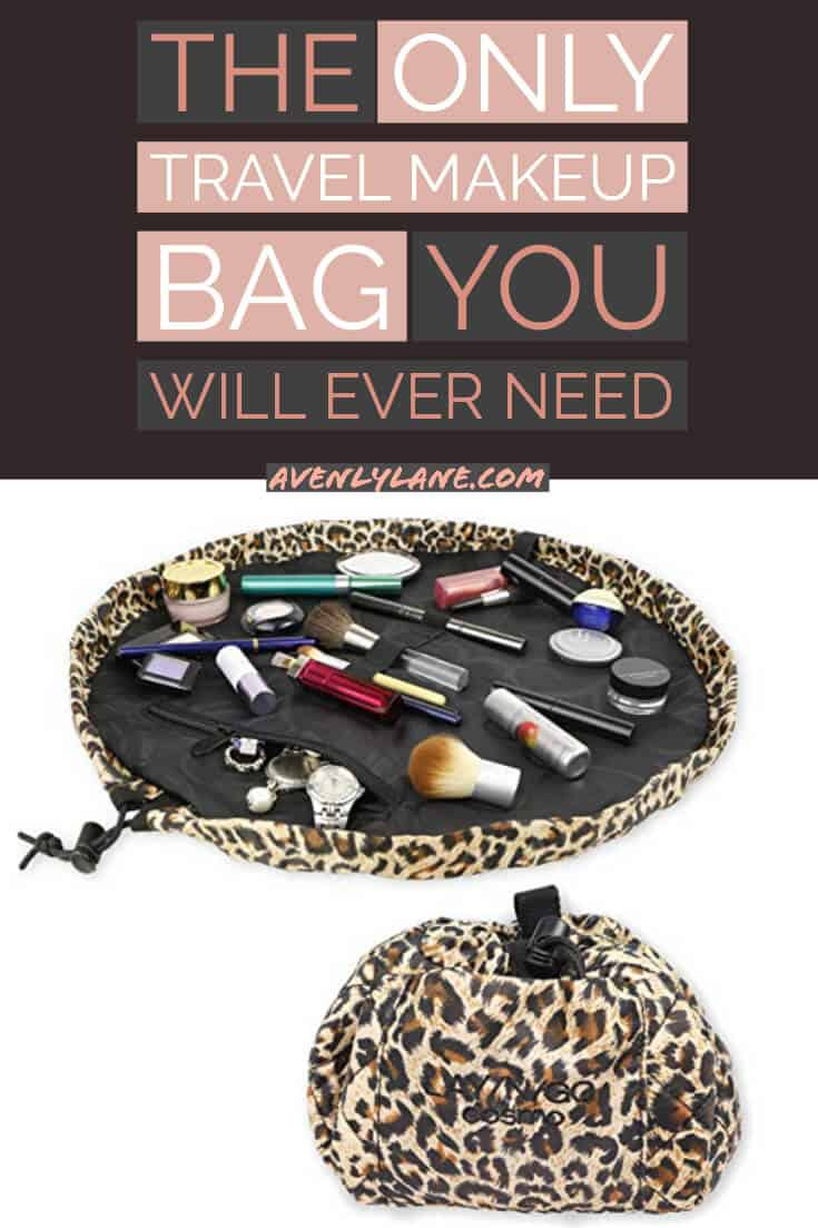 Best Travel makeup Bag and cosmetic bag! I have tried so many different makeup bags and they have all failed me miserably! This one is by FAR the best cosmetic bag for travel I have ever used! #AVENLYLANE #AVENLYLANETRAVEL #makeup #travel #packinglist #makeupbag #travelessentials #traveltoiletries #travelmakeup
