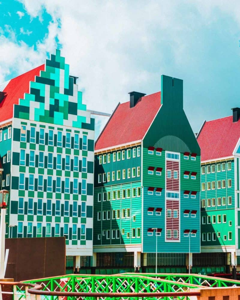 Zaandam Netherlands! Home to some of the coolest buildings I have ever seen! Top things to do in the Netherlands! See the canals of Amsterdam, fields of tulips, Anne Frank Museum, Cube Homes of Rotterdam, and Zaandam Netherlands. #avenlylane #avenlylanetravel #netherlands #amsterdam #europe