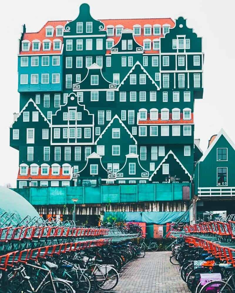 Inntel Hotel Zaandam in the Netherlands! One of the coolest buildings I have ever seen!
