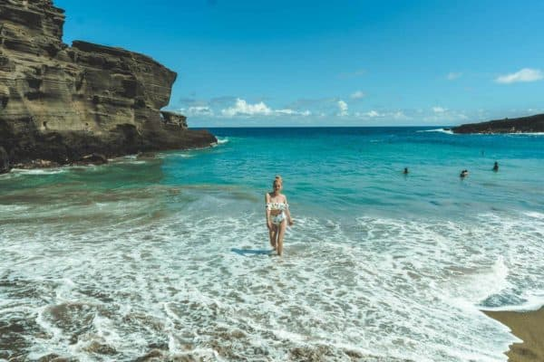 Papakolea Beach: The Best Big Island Beach (My first time swimming since getting sick)